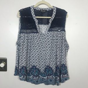 ABSOLUTELY FAMOUS Sleeveless Top With Lace, 3X